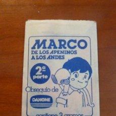 Coleccionismo Cromos antiguos: MARCO DE LOS APENINOS A LOS ANDES 2A PARTE SOBRE DE CROMOS SIN ABRIR DANONE. Lote 236177555