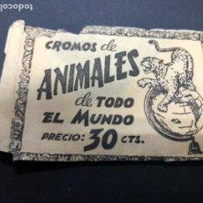 Coleccionismo Cromos antiguos: SOBRE CROMOS ANIMALES DEL TODO MUNDO SIN CROMOS EDITORIAL FHER. Lote 236314040