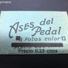 Coleccionismo Cromos antiguos: SOBRE CROMOS ASES DEL PEDAL CONTIENE CROMOS. Lote 236314545