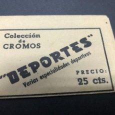 Coleccionismo Cromos antiguos: SOBRE CROMOS DEPORTES CONTIENE LOS CROMOS. Lote 236314680