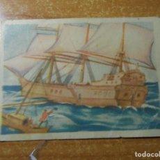 Coleccionismo Cromos antiguos: ROBINSON CRUSOE CROMO Nº 9 EDITORIAL AGUILAR NUNCA PEGADO. Lote 236534165
