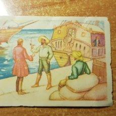 Coleccionismo Cromos antiguos: ROBINSON CRUSOE CROMO Nº 12 EDITORIAL AGUILAR NUNCA PEGADO. Lote 236534895