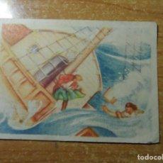 Coleccionismo Cromos antiguos: ROBINSON CRUSOE CROMO Nº 14 EDITORIAL AGUILAR NUNCA PEGADO. Lote 236535265