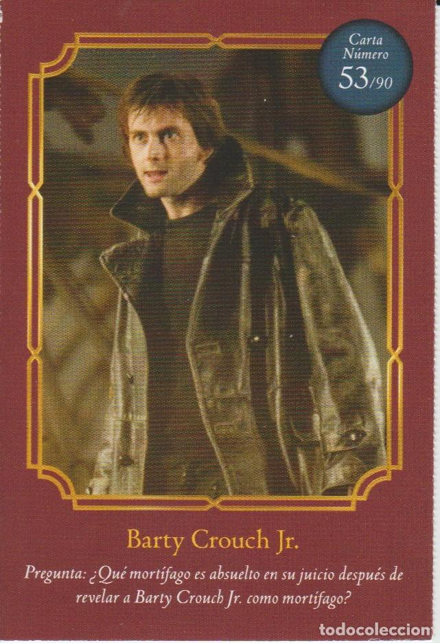 Nº 53 - HARRY POTTER - WIZARDING WORLD - CARREFOUR 2020 - BARTY CROUCH JR (Coleccionismo - Cromos y Álbumes - Cromos Antiguos)
