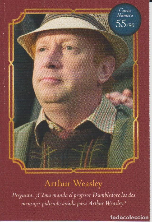 Nº 55 - HARRY POTTER - WIZARDING WORLD - CARREFOUR 2020 - ARTHUR WEASLEY (Coleccionismo - Cromos y Álbumes - Cromos Antiguos)