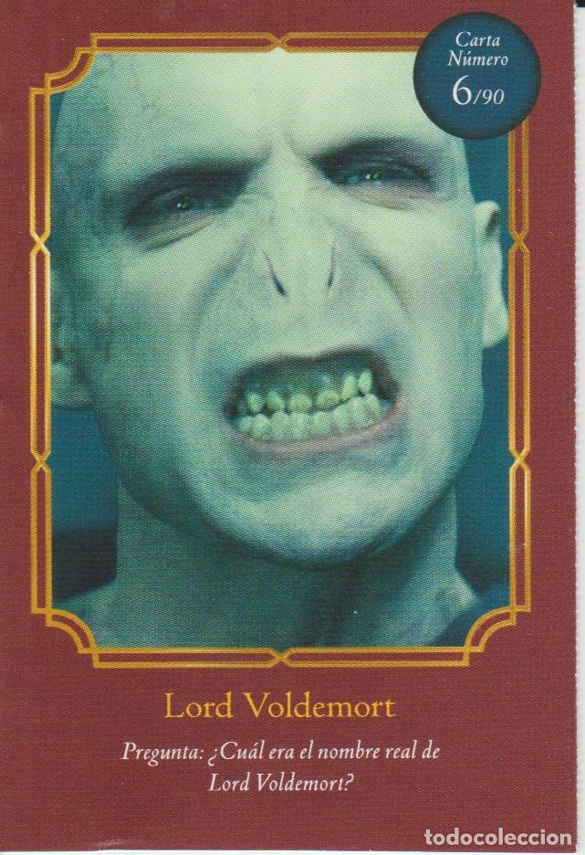 Coleccionismo Cromos antiguos: Nº 6 - HARRY POTTER - WIZARDING WORLD - CARREFOUR 2020 - LORD VOLDEMORT - Foto 1 - 236989610