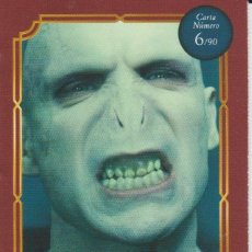 Coleccionismo Cromos antiguos: Nº 6 - HARRY POTTER - WIZARDING WORLD - CARREFOUR 2020 - LORD VOLDEMORT. Lote 236989610
