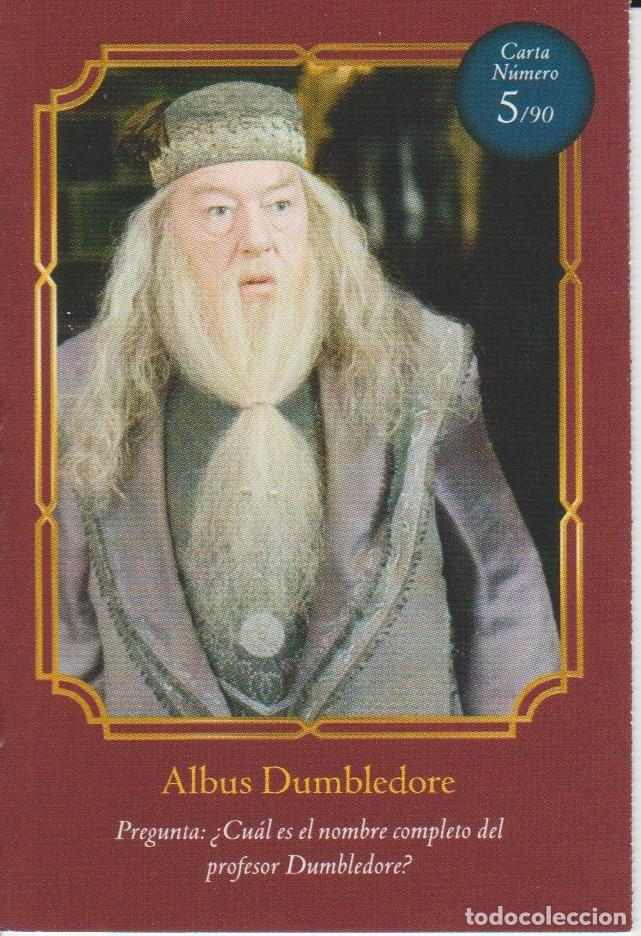 Coleccionismo Cromos antiguos: Nº 5 - HARRY POTTER - WIZARDING WORLD - CARREFOUR 2020 - ALBUS DUMBLEDORE - Foto 1 - 236990700