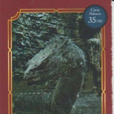 Coleccionismo Cromos antiguos: Nº 35 - HARRY POTTER - WIZARDING WORLD - CARREFOUR 2020 - BASILISCO. Lote 236991645