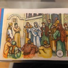 Coleccionismo Cromos antiguos: CROMO CARTON Nº 19 REPLICA DE JESUCRISTO A LOS ESCRIBAS Nº 37 DESCONOZCO COLECCION CASA. Lote 237025705