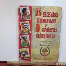 Coleccionismo Cromos antiguos: ÁLBUM CROMOS, RAZAS HUMANAS Y BANDERAS DEL UNIVERSO, DOS EN UNO. RARO.. Lote 242125605