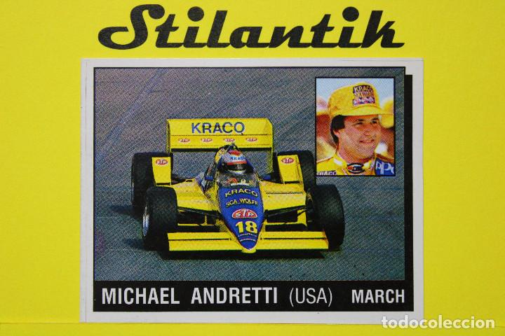 CROMO 165 MICHAEL ANDRETTI (USA) MARCH - MOTOR ADVENTURES 1987 PANINI - NUNCA PEGADO - NEVER STICKED (Coleccionismo - Cromos y Álbumes - Cromos Antiguos)