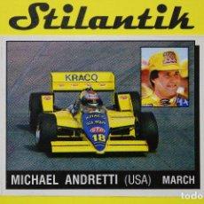 Coleccionismo Cromos antiguos: CROMO 165 MICHAEL ANDRETTI (USA) MARCH - MOTOR ADVENTURES 1987 PANINI - NUNCA PEGADO - NEVER STICKED. Lote 242168940