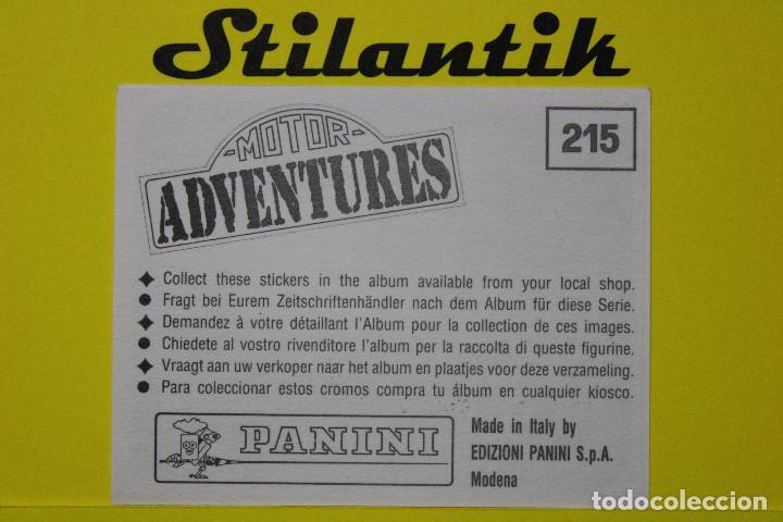 Coleccionismo Cromos antiguos: Cromo 215 - Motor Adventures 1987 - Panini - Nunca pegado - Never Sticked - Foto 2 - 242177965