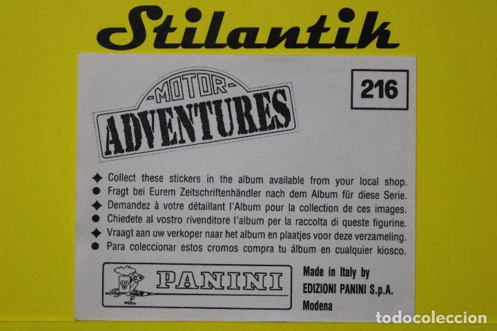 Coleccionismo Cromos antiguos: Cromo 216 - Motor Adventures 1987 - Panini - Nunca pegado - Never Sticked - Foto 2 - 242178110