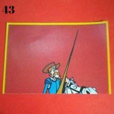 Coleccionismo Cromos antiguos: CROMO N.43 DON QUIJOTE DANONE SIN PEGAR. Lote 243448275