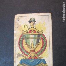 Coleccionismo Cromos antiguos: CHARLES CHAPLIN-CROMO CARTA DE CINE-RUGBY-CHOCOLATE ORTHI-VER FOTOS-(77.700). Lote 243664245