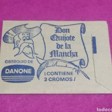 Coleccionismo Cromos antiguos: SOBRE DANONE DON QUIJOTE DE LA MANCHA, CONTIENE 3 CROMOS 1978. Lote 244578180