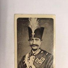 Coleccionismo Cromos antiguos: DROGAS Y FERRETERÍA M. MIRAVE (HUESCA) CROMOS REALEZA SCHAH DE PERSIA (H.1910?). Lote 245534750