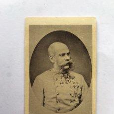 Coleccionismo Cromos antiguos: DROGAS Y FERRETERÍA M. MIRAVE (HUESCA) CROMOS REALEZA EMPERADOR DE AUSTRIA (H.1910?). Lote 245536190