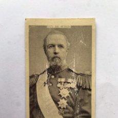 Coleccionismo Cromos antiguos: DROGAS Y FERRETERÍA M. MIRAVE (HUESCA) CROMOS REALEZA REY DE SUECIA (H.1910?). Lote 245537590