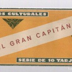 Coleccionismo Cromos antiguos: CROMOS CULTURALES EL GRAN CAPITAN. Nº 8. COMPLETO, 10 TARJETAS. EDICIONES BARSAL. Lote 245545940