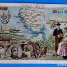 Coleccionismo Cromos antiguos: GEOGRAFÍA DE ESPAÑA. CROMO Nº 11. PROVINCIA DE CÁDIZ. REGALO DE CHOCOLATE PÍ, S/F.. Lote 245908550