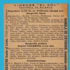 Coleccionismo Cromos antiguos: GEOGRAFÍA DE ESPAÑA. CROMO Nº 38. PROVINCIA DE CANTABRIA, SANTANDER. REGALO DE CHOCOLATE PÍ, S/F.. Lote 245908900