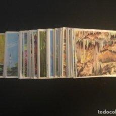 Coleccionismo Cromos antiguos: CROMOS ANTIGUOS COLECCION LA VUELTA AL MUNDO BRUGUERA SIN PEGAR LOTE DE 282 CROMOS. Lote 245952940