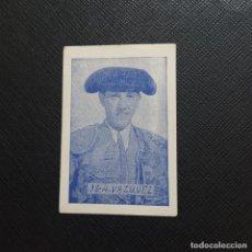 Coleccionismo Cromos antiguos: VAZQUEZ CROMO TOREROS TOROS TAUROMAQUIA - SIN PEGAR - 38. Lote 246135845