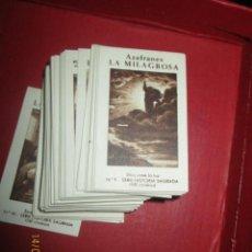 Coleccionismo Cromos antiguos: NOVELDA ALICANTE AZAFRANES 80 CROMOS ALBUM AZAFRAN LA MILAGROSA HISTORIA SAGRADA 80 CROMOS IMPECABL. Lote 43658354