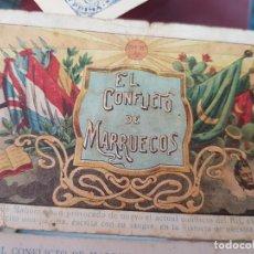 Coleccionismo Cromos antiguos: ANTIGUA COLECCION CROMOS MILITAR EL CONFLICTO DE MARRUECOS PUBLICIDAD CHOCOLATES ARUMI VICH. Lote 246666245