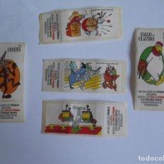 Coleccionismo Cromos antiguos: 5 CROMOS CHICLE BUGS BUNNY .AÑOS 90. Lote 248261295