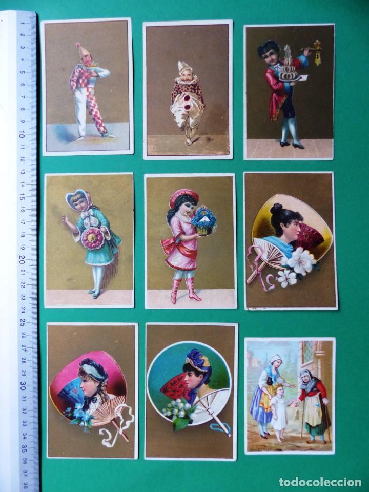 Coleccionismo Cromos antiguos: 96 antiguos cromos de chocolate y otros franceses de principio de siglo XX - Foto 2 - 249427970