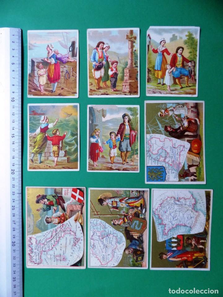 Coleccionismo Cromos antiguos: 96 antiguos cromos de chocolate y otros franceses de principio de siglo XX - Foto 5 - 249427970