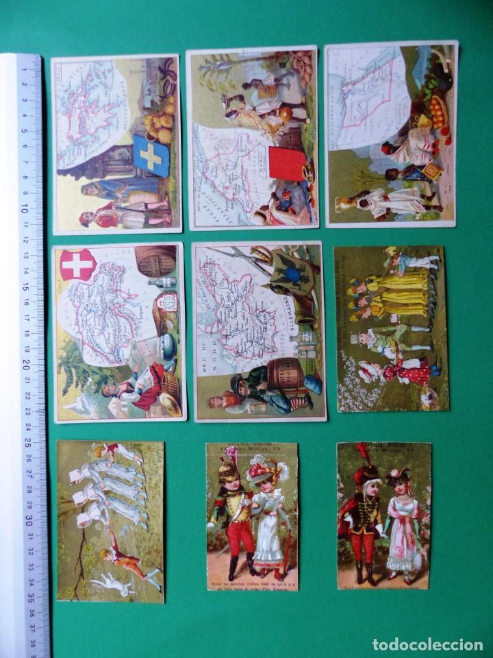 Coleccionismo Cromos antiguos: 96 antiguos cromos de chocolate y otros franceses de principio de siglo XX - Foto 11 - 249427970