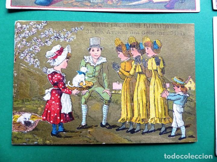 Coleccionismo Cromos antiguos: 96 antiguos cromos de chocolate y otros franceses de principio de siglo XX - Foto 14 - 249427970