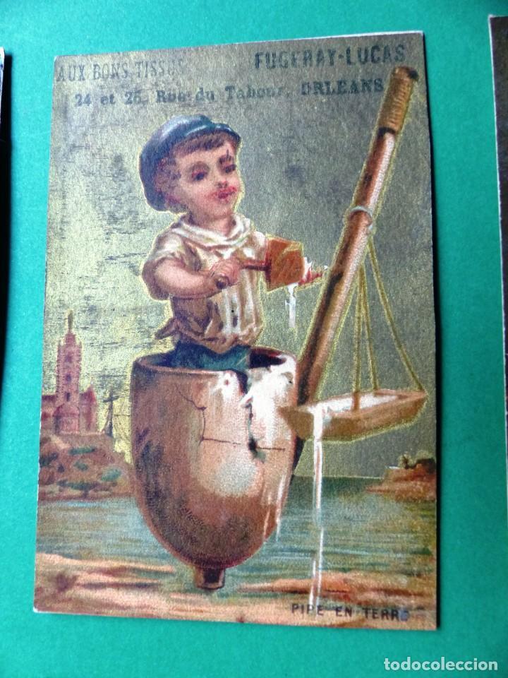 Coleccionismo Cromos antiguos: 96 antiguos cromos de chocolate y otros franceses de principio de siglo XX - Foto 20 - 249427970