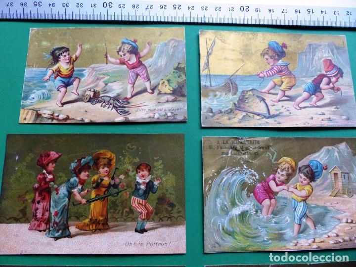 Coleccionismo Cromos antiguos: 96 antiguos cromos de chocolate y otros franceses de principio de siglo XX - Foto 45 - 249427970