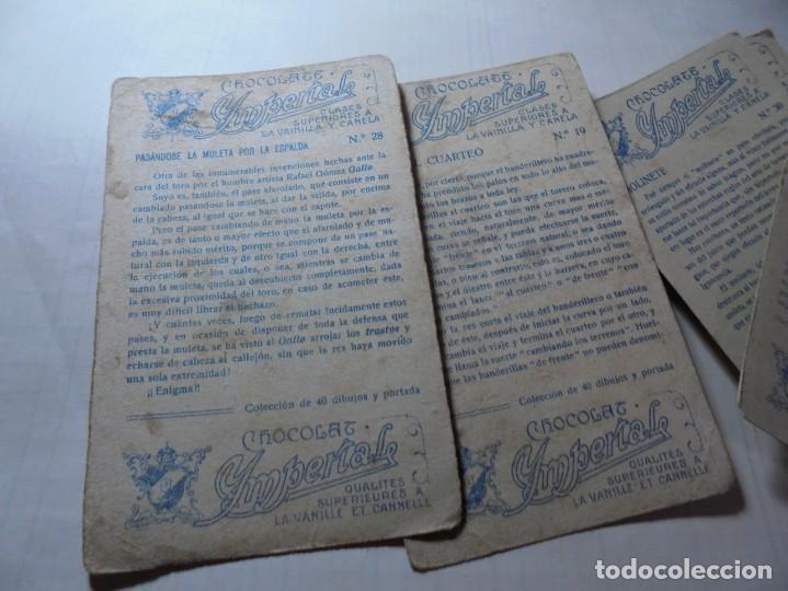 Coleccionismo Cromos antiguos: magnificos 8 cromos antiguos cocolates imperial toreros - Foto 9 - 251091050