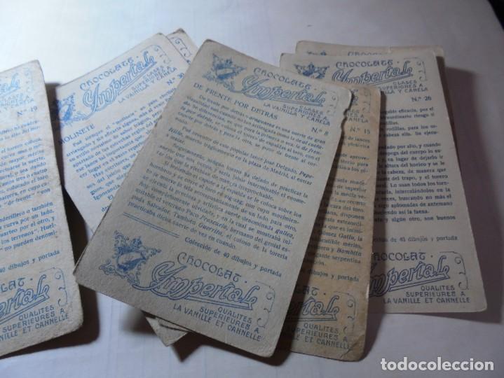 Coleccionismo Cromos antiguos: magnificos 8 cromos antiguos cocolates imperial toreros - Foto 10 - 251091050