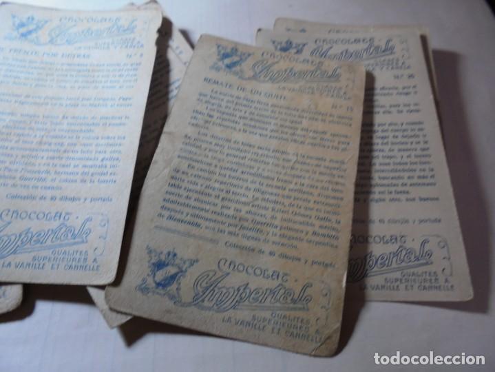 Coleccionismo Cromos antiguos: magnificos 8 cromos antiguos cocolates imperial toreros - Foto 11 - 251091050