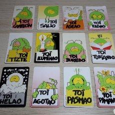 Coleccionismo Cromos antiguos: 12 X CROMO *TOI*, PROMOCIONAL PREMIUM BOLLYCAO PANRICO. AÑOS 90.. Lote 253984860