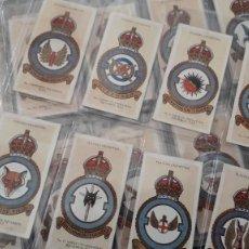 Coleccionismo Cromos antiguos: SET COMPLETO 50 CROMOS INGLESES, RAF BADGES, EMBLEMAS FUERZAS AEREAS REALES, JOHN PLAYER &SONS. Lote 254156360