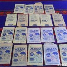 Coleccionismo Cromos antiguos: CON LOS 3 COLORES, LOTE 19 SOBRE LLENO MARCO DE LOS APENINOS A LOS ANDES 2ª PARTE. DANONE 1976.. Lote 254200300
