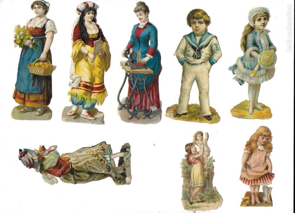 Coleccionismo Cromos antiguos: P-12540. LOTE DE 21 CROMOS TROQUELADOS. PRINCIPIOS S.XX. - Foto 2 - 254708060