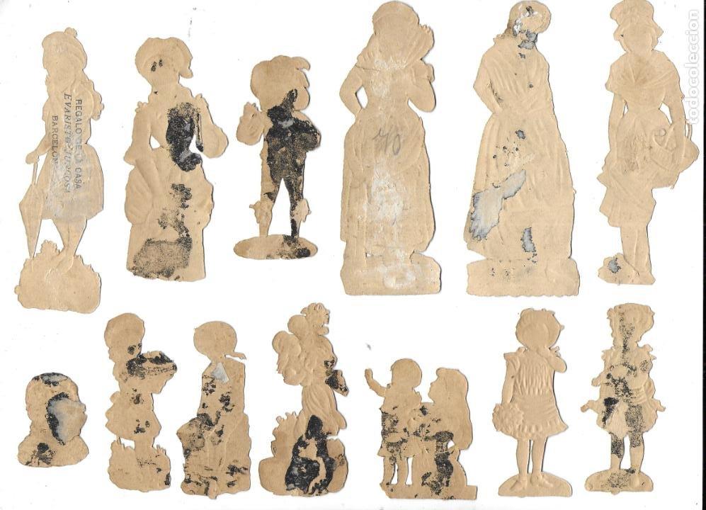 Coleccionismo Cromos antiguos: P-12540. LOTE DE 21 CROMOS TROQUELADOS. PRINCIPIOS S.XX. - Foto 3 - 254708060
