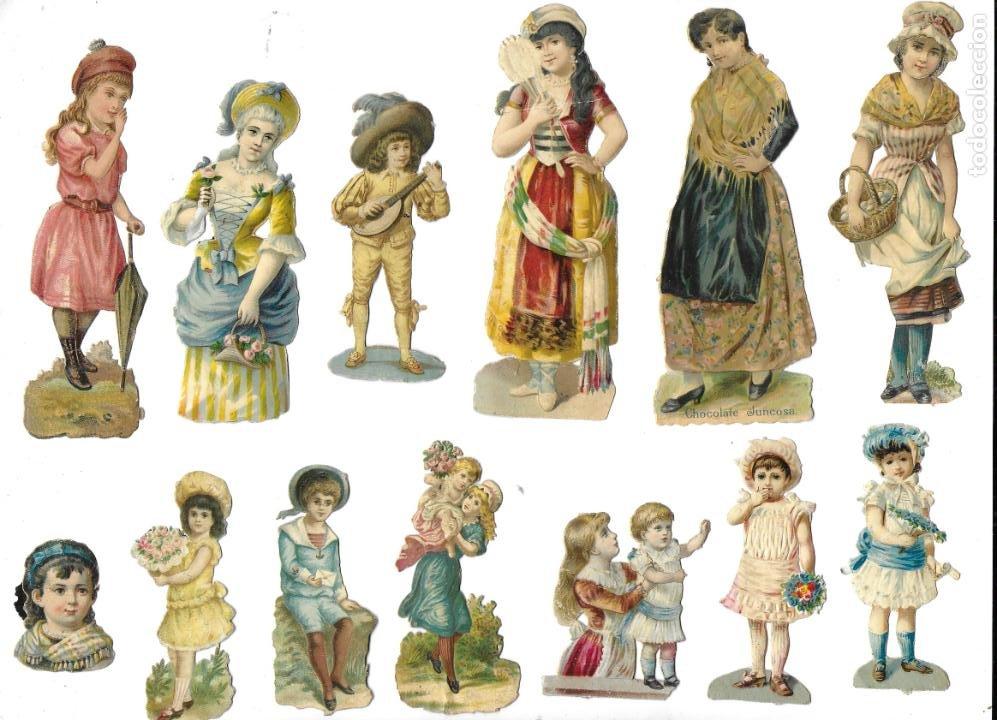 P-12540. LOTE DE 21 CROMOS TROQUELADOS. PRINCIPIOS S.XX. (Coleccionismo - Cromos y Álbumes - Cromos Antiguos)