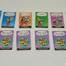 Coleccionismo Cromos antiguos: LOTE CROMOS MARIO BROS BIMBO. NINTENDO. GAME BOY. MUY BUEN ESTADO.. Lote 252237890