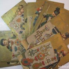 Coleccionismo Cromos antiguos: PAISES, SOLDADOS Y INSIGNIAS MILITARES-COL·12 CROMOS-PAÑERIA ENRIQUE POU-FIGUERAS-VER FOTOS-(80.009). Lote 257867300
